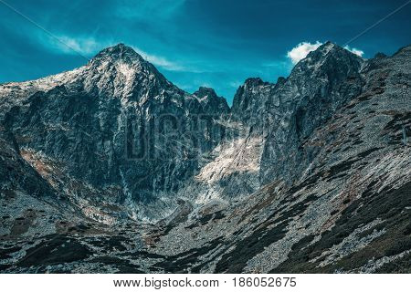 High Tatra Mountains panorama landscape dramatic colors
