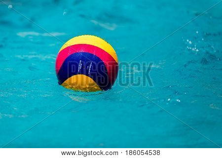 Water Polo Ball Floating On The Water