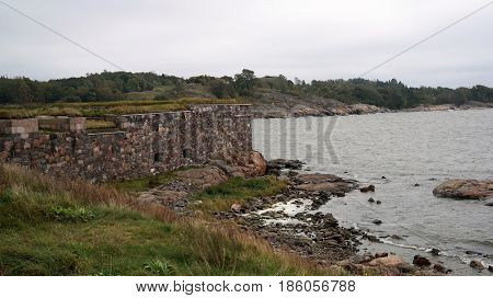 View from Suomenlinna, the historical defence fortress of Helsinki, signed on the UNESCO List