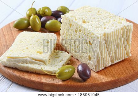 Piece Of Delicious Salted Feta Cheese