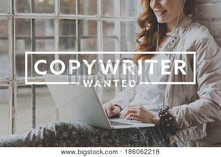 Woman Working As Freelance Copywriter