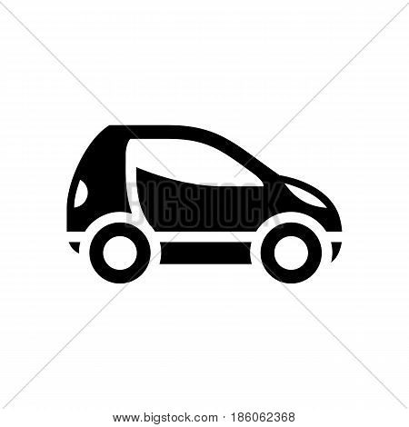 Mini car, icon isolated on white background flat style.