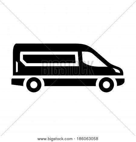 Van, icon isolated on white background flat style.