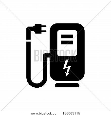 electro refuelling, icon isolated on white background flat style.