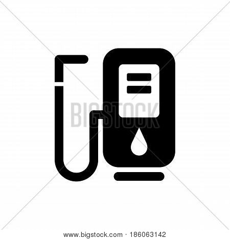 filling station, icon isolated on white background flat style.