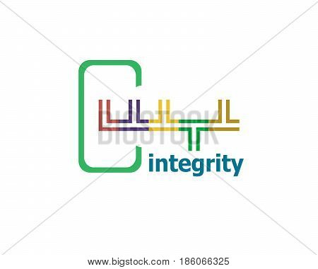 Text Integrity. Business Concept . Abstract Emblem, Design Concept, Element For Template.