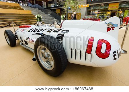 STUTTGART GERMANY - MARCH 02 2017: Racing car Maserati 420M Eldorado 1958. Europe's greatest classic car exhibition