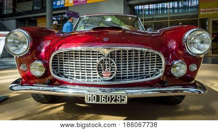 STUTTGART GERMANY - MARCH 02 2017: Grand tourer car Maserati 3500 GT (Tipo 101) 1958. Europe's greatest classic car exhibition