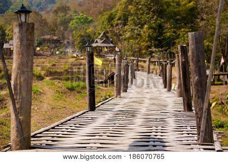 Buddha Bamboo Bridge In Pai