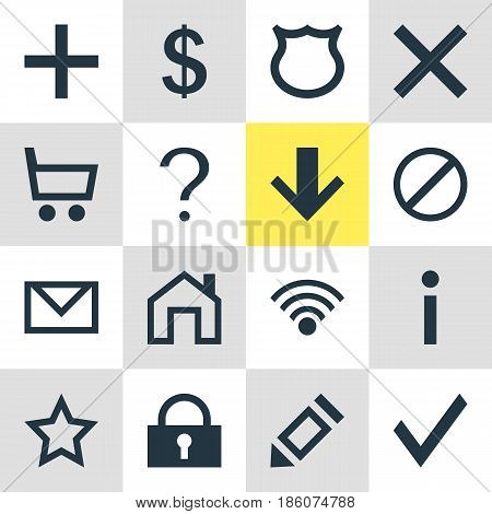 Vector Illustration Of 16 Interface Icons. Editable Pack Of Conservation, Money Making, Pen And Other Elements.