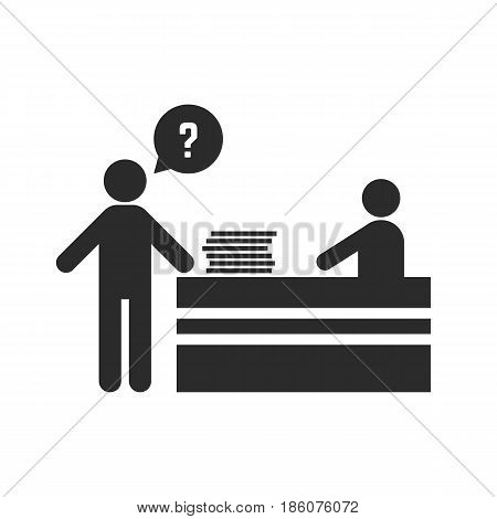 office worker asks for help. concept of hardworking, lazy, tension, abuse, resignation, dismissal, assistance, leader. isolated on white background. flat style trend modern design vector illustration