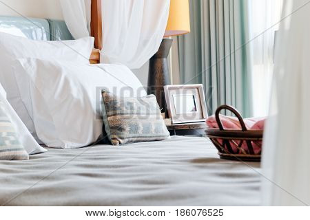 Detail image of Luxury Bed background texture