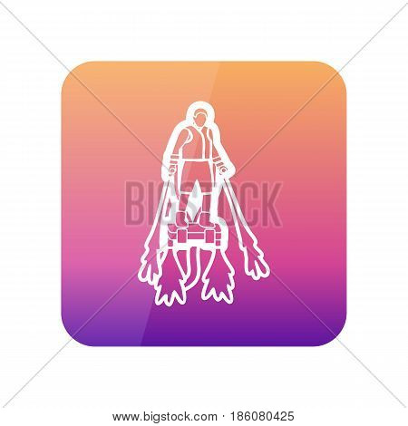 FlyBoard FlySurf outline vector icon. Beach. Summer. Summertime. Holiday. Vacation ride water sport eps 10