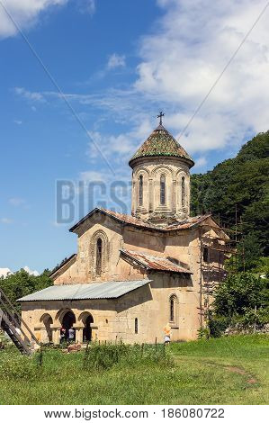 Orthodox Church In A Mountain Monastery On A Summer Day