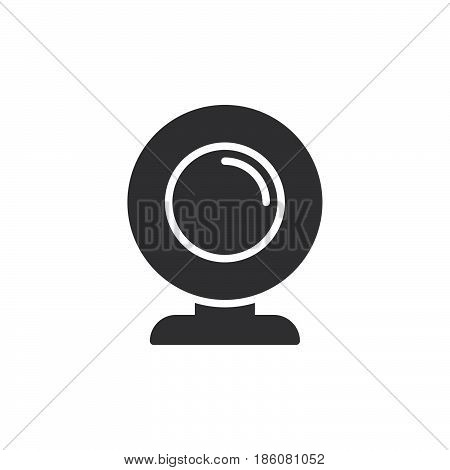 Webcam icon vector filled flat sign solid pictogram isolated on white. Symbol logo illustration. Pixel perfect