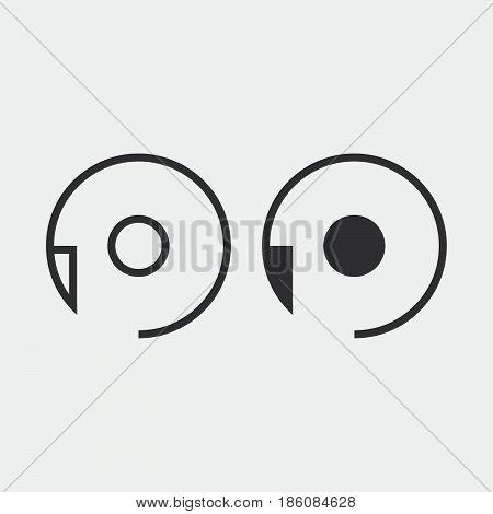reset icon isolated on white background .