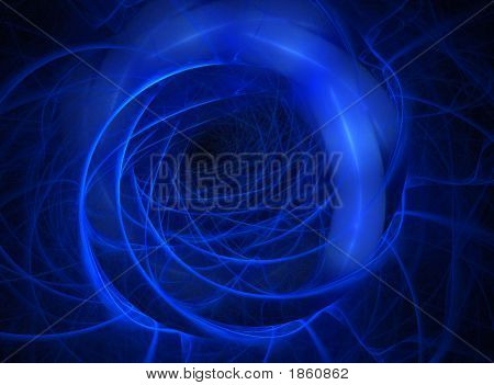Blue Swirling Background With Depth