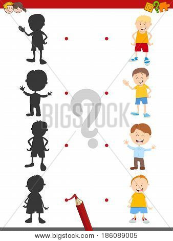 Shadow Activity Game With Boys