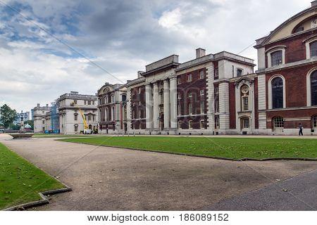 LONDON, ENGLAND - JUNE 17 2016: University of Greenwich, London, England, United Kingdom