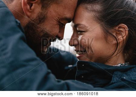Young Mixed Race Couple In Love