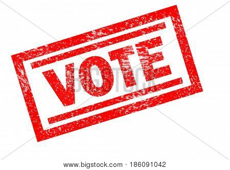 VOTE Rubber Stamp on white background. vote sign. vote stamp symbol.