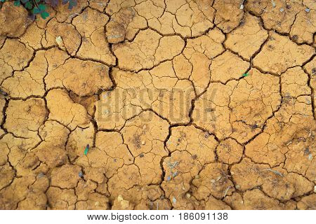 Texture is dehydrated chapped earth. Desert landscape with cracked earth surface agricultural production in complex natural environments. resort village Bali. Crete Greece