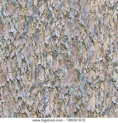 Seamless texture hanging down worn-out ripped white rags cloth or paper. Pattern of rustic fabric material