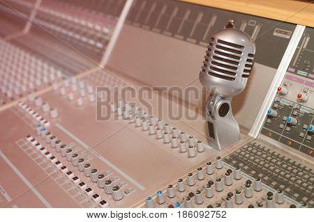 Sound recording studio, recording equipment - mixing desk
