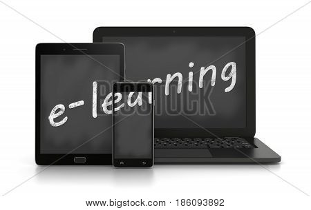 E-learning, Online Training Concept