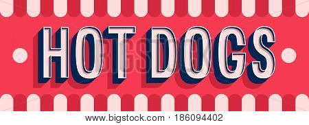 Hot Dogs Banner Typographic Design.