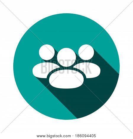 People icon  stock vector illustration flat design