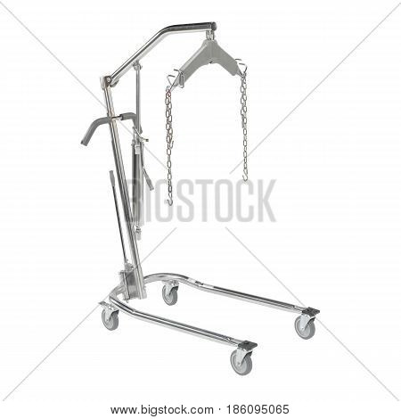 Patient Lift Isolated On White Background. Medical Equipment For Reliable Transfers