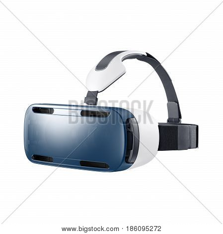 Virtual Reality Headset Isolated On White Background. Vr Headset