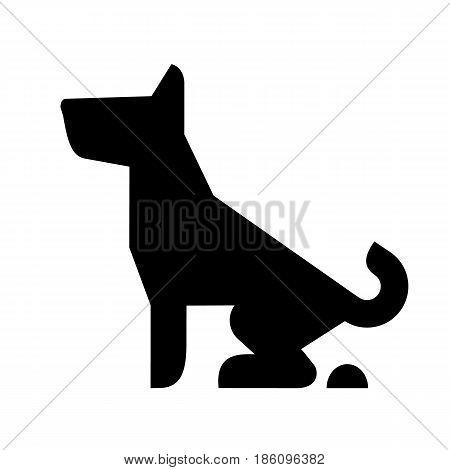 Dog, icon isolated on white background flat style.