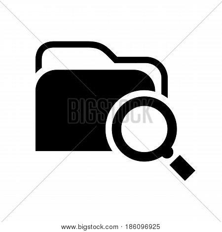 folder icon. Symbol black on white background