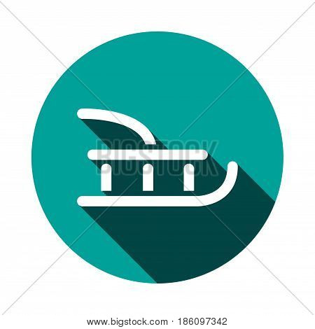 sled icon stock vector illustration flat design