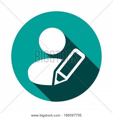 user pen icon stock vector illustration flat design