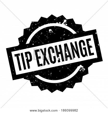 Tip Exchange rubber stamp. Grunge design with dust scratches. Effects can be easily removed for a clean, crisp look. Color is easily changed.