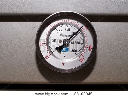 A Thermometer on the makeing bread machine