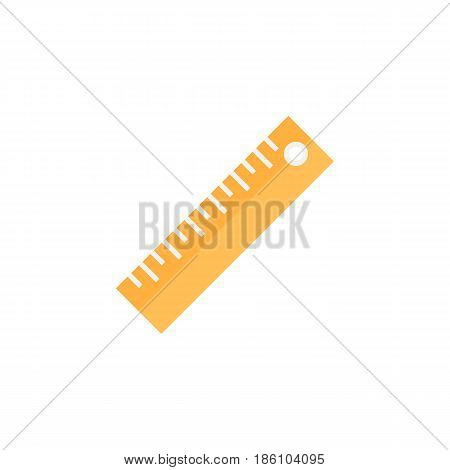 Ruler flat icon, Education and school element, Straightedge vector graphics, a colorful solid pattern on a white background, eps 10.