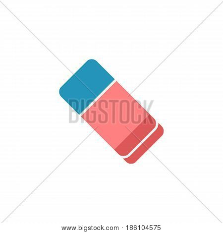 Eraser flat icon, school and education element, rubber vector graphics, a colorful solid pattern on a white background, eps 10.