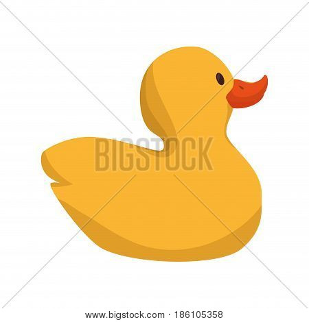 cute ducky toy isolated icon vector illustration design