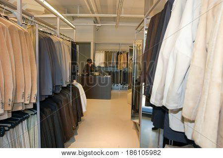 Retail Shop Of Hugo Boss Industry At Coldrerio