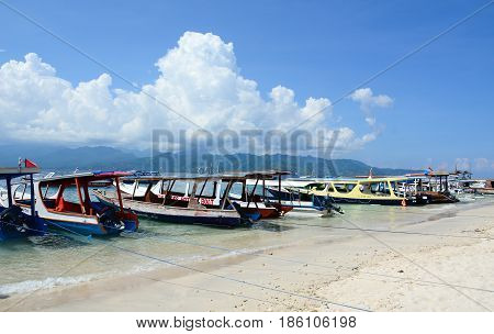 Seascape Of Gili Islands In Lombok, Indonesia