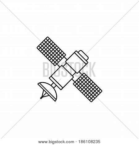 Satellite line icon, navigation and communication, vector graphics, a linear pattern on a white background, eps 10.