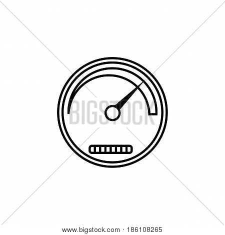 Speedometer line icon, navigation and Tachometer, vector graphics, a linear pattern on a white background, eps 10.