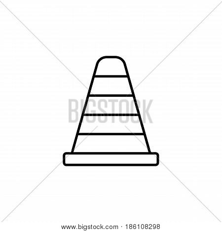 Cone line icon, navigation and traffic warning sign, vector graphics, a linear pattern on a white background, eps 10.
