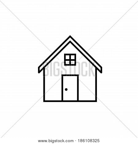 House line icon, home and building sign, vector graphics, a linear pattern on a white background, eps 10.