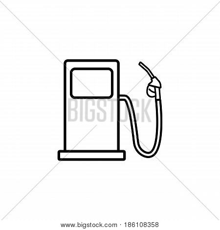 Gas station line icon, fuel and refill sign, vector graphics, a linear pattern on a white background, eps 10.