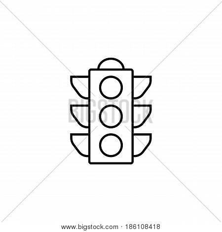 Traffic light line icon, stop light and navigation, vector graphics, a linear pattern on a white background, eps 10.